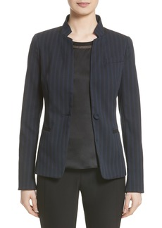 Lafayette 148 New York Tristan Charmeuse Trim Jacket (Nordstrom Exclusive)