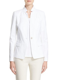 Lafayette 148 New York Tristan Stretch Canvas Jacket