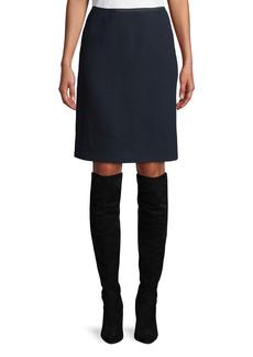 Lafayette 148 New York Tula Nouveau Crepe Wool Pencil Skirt