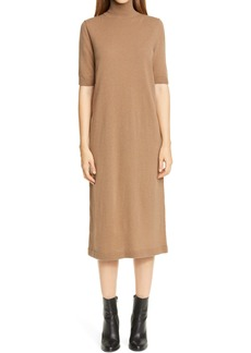 Lafayette 148 New York Turtleneck Wool & Cashmere Midi Sweater Dress