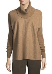 Lafayette 148 New York Turtleneck Wool Long-Sleeve Sweatshirt
