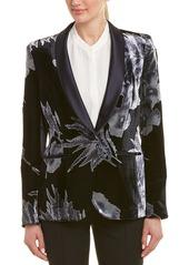 Lafayette 148 New York Tuxedo Silk-Blend Jacket