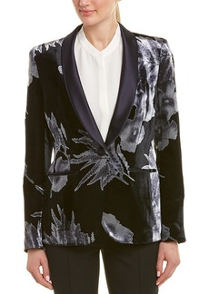 Lafayette 148 New York Tuxedo Silk-Blend Jacket