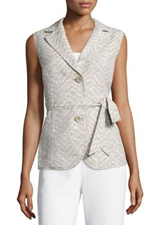 Lafayette 148 New York Two-Button Vest W/Self Belt
