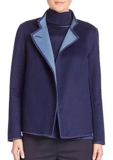 Lafayette 148 Two Tone Double Face Branson Wool and Cashmere Jacket