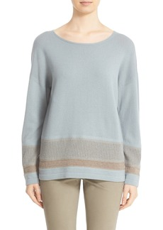 Lafayette 148 New York Two-Tone Needlepunch Sweater