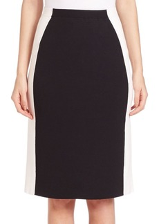 Lafayette 148 Two-Tone Slim Knit Skirt
