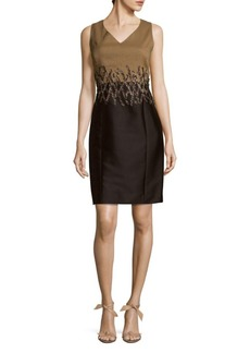 Lafayette 148 Two-toned Sleeveless Mini Dress