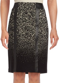 Lafayette 148 New York Tyra Back Slit Printed Skirt