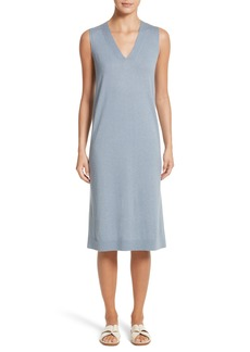 Lafayette 148 New York V-Neck Cashmere & Silk Knit Dress