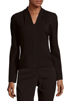 Lafayette 148 New York V-Neck Long Sleeve Jacket