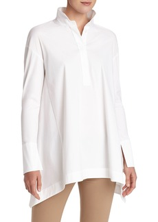 Lafayette 148 New York Valen Stretch Cotton Blouse