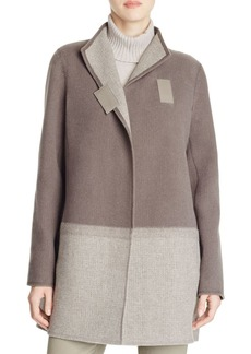 Lafayette 148 New York Valina Color Block Wool Coat
