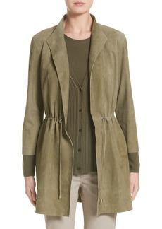 Lafayette 148 New York Vangeline Suede Tie Waist Coat (Nordstrom Exclusive)