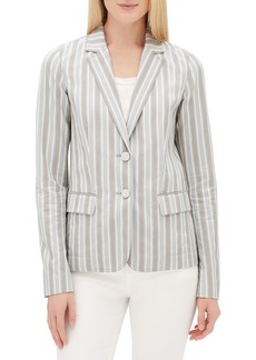 Lafayette 148 New York Vangie Elixir-Stripe Button-Front Jacket