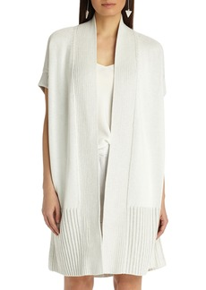 Lafayette 148 New York Vanise Cotton & Silk Cardigan