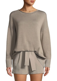 Lafayette 148 New York Vanise Cotton-Silk Relaxed Sweater