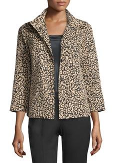Lafayette 148 Vanna Leopard-Print Jacket
