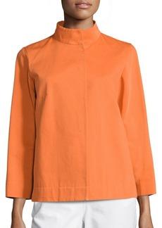 Lafayette 148 New York Vanna Octavia Ottoman Cotton Jacket