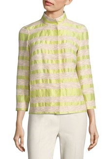 Lafayette 148 Vanna Striped Tweed Jacket