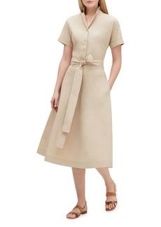 Lafayette 148 New York Varuni Short-Sleeve Belted Shirtdress