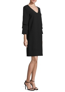 Velez Tiered-Sleeve Shift Dress