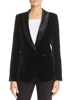 Lafayette 148 New York Velvet & Satin Tuxedo Jacket