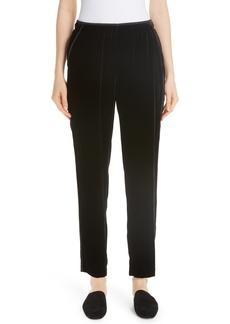 Lafayette 148 New York Velvet Track Pants