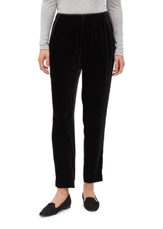 Lafayette 148 New York Velvet Track Pants with Piping