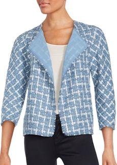Lafayette 148 New York Venus Tweed Mohair Blend Topper Jacket