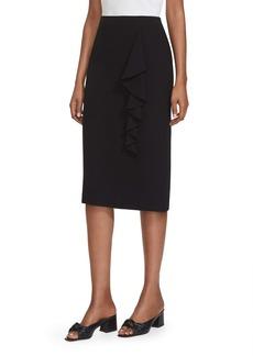 Lafayette 148 New York Vera Ruffle Trim Pencil Skirt