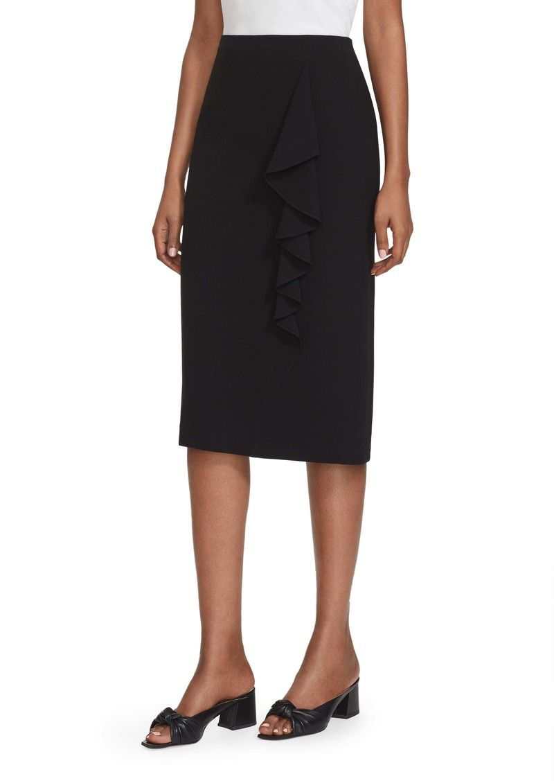 Lafayette 148 New York Vera Ruffle Trim Pencil Skirt