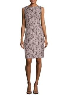 Lafayette 148 New York Verona Jacquard Silk-Blend Sheath Dress