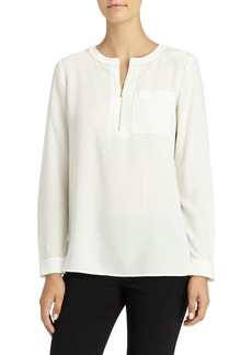 Lafayette 148 New York Veronica Silk Blouse