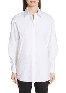 Lafayette 148 New York Victoria Cotton Blend Blouse