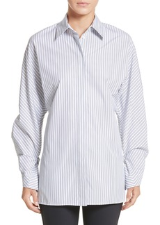 Lafayette 148 New York Victoria Oceanic Stripe Blouse
