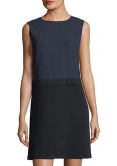 Lafayette 148 New York Vilma Sleeveless Dress w/ Crepe Skirt