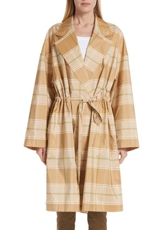Lafayette 148 New York Vincenza Plaid Silk Topper