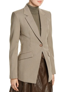 Lafayette 148 New York Virginia Mini-Houndstooth Blazer