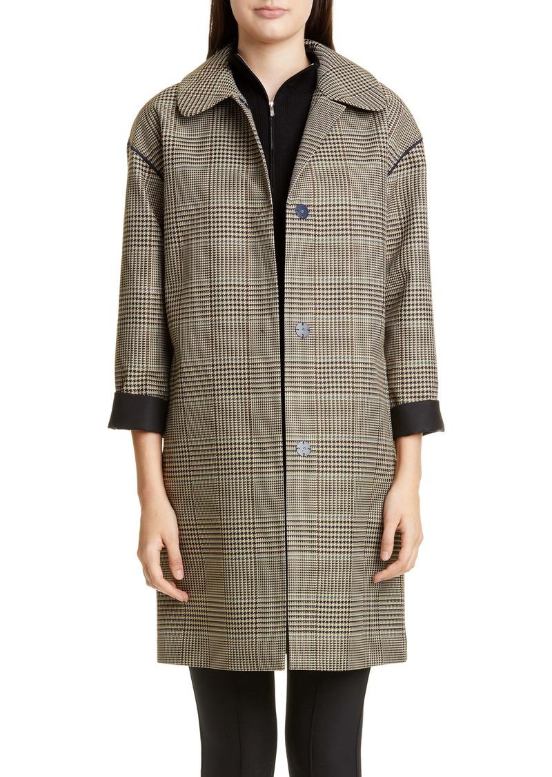 Lafayette 148 New York Vita Glen Plaid Coat
