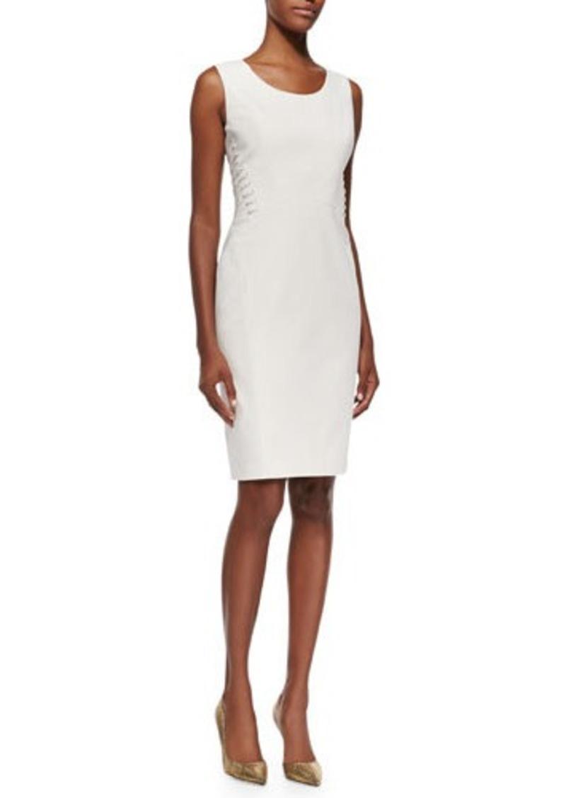 Lafayette 148 New York Vonnie Fundamental Side-Lace-Up Sheath Dress