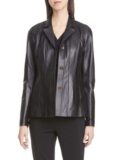 Lafayette 148 New York Warrick Leather Jacket