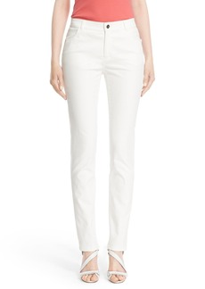 Lafayette 148 New York Waxed Denim Slim Leg Jeans (Regular & Petite)