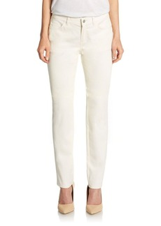 Lafayette 148 New York Waxed Straight-Leg Jeans
