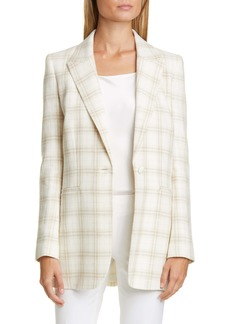 Lafayette 148 New York Whitney Argyle Jacquard Coat