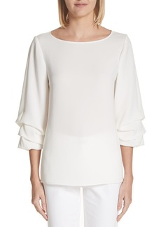 Lafayette 148 New York Winston Finesse Crepe Blouse