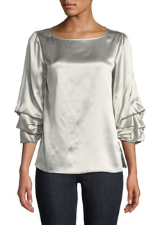 Lafayette 148 Winston Luxe Charmeuse Blouse