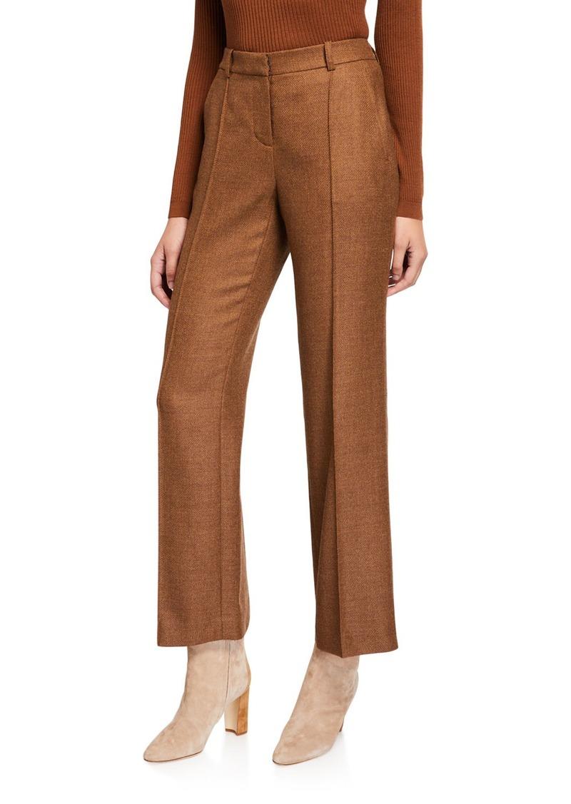Lafayette 148 New York Winthrop Euphoric Melange Cloth Wool Pants