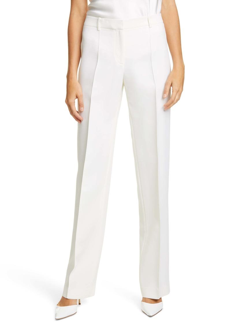 Lafayette 148 New York Winthrop Wool & Silk Wide Leg Pants