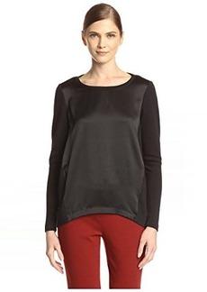 Lafayette 148 New York Women's Charmeuse Combo Sweater